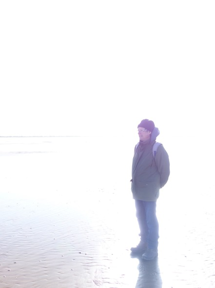 A vision of Nick enveloped in the sunshine on the beach near Louth