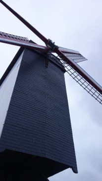 A windmill! But this is not in the Netherlands, this is in Belgium.