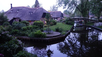Giethoorn - they call it the Venice of the Netherlands, but I never saw Venice look this quaint.
