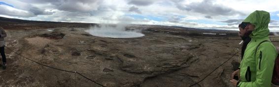 A geyser called Strokkur, which we saw erupt twice.