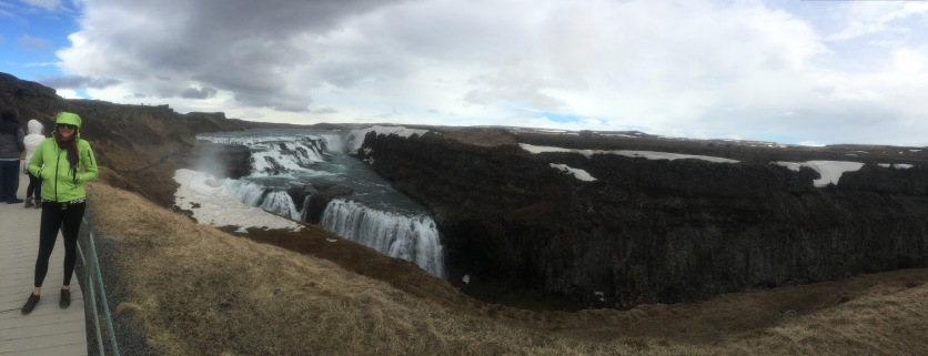 Gulfoss falls, the largest falls in Europe.