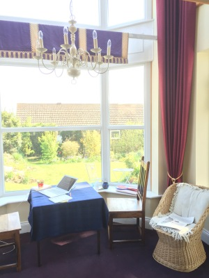 "My ""office"" in Louth - Nick and Louise's new addition to their house, a beautiful two-storey sunroom."
