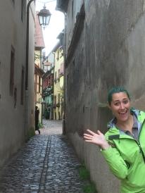 Oh hi, winding alleyway in Riquewihr, France!