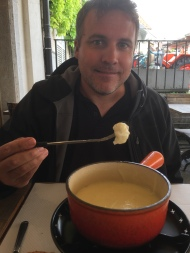 True story, my adorable Lukey boy did not know that fondue could be cheese, he thought it was chocolate. He felt straight up betrayed that I had not told him this until three days into Switzerland. We made up for it by having Gruyere fondue in Gruyeres.