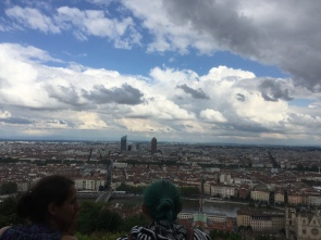 A view over Lyon (me and Berangere)