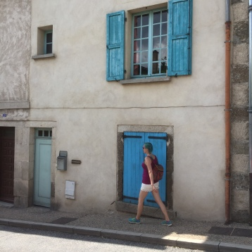 Luke was thrilled that I decided to wear my actual walking shoes around this French village. He feels very strongly about arch support.