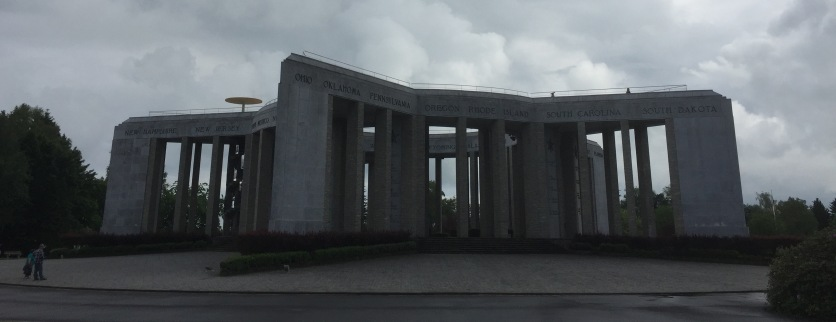 The Mardasson war memorial in Bastogne, thanking the Americans for the Battle of the Bulge