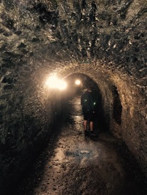 The second photo in this post of Luke walking down a creepy tunnel. But this one is 1,000 years old.