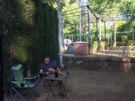 Our campsite in Cordoba. Highest hedges ever.