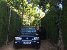 This campsite in Cordoba had crazy high hedges, but no back hedge. Still very comfy.