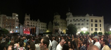 The Argentina concert - notice the historic town square and neato bull statue (pretty statue, though Luke and I draw a line in our cultural relativism right at the running of the bulls and bullfighting. Not cool, Spain. *My anthropology professors cringe and scold me.*