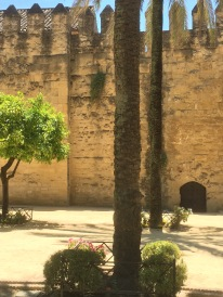 The outside of the Alcazar.