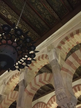 Beautiful ceilings and black chandeliers
