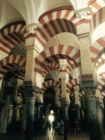Inside the Mesquita. These arches are throughout the entire massive building.