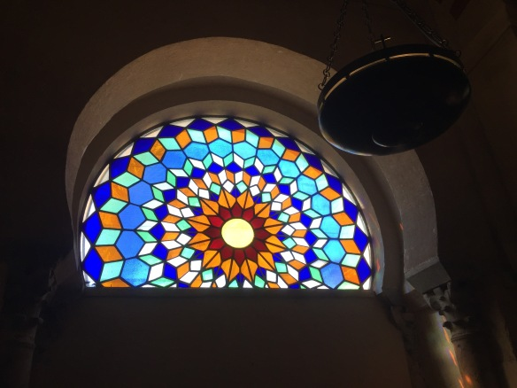 Stained glass in the Mesquita.
