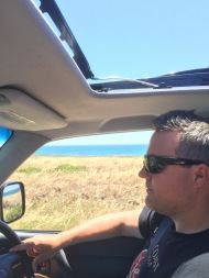 Driving down the Andalucia coast on my birthday.