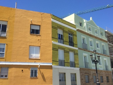 Cadiz. I wore these colours yesterday in homage.