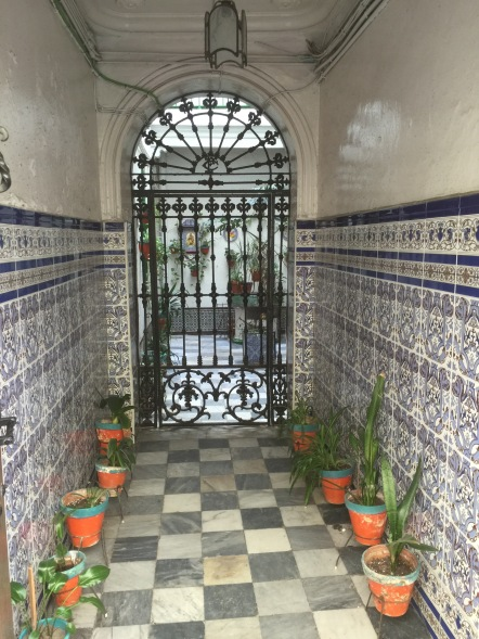 Most of the houses in Cadiz have these dark, tiled entryways which they leave open to the street.