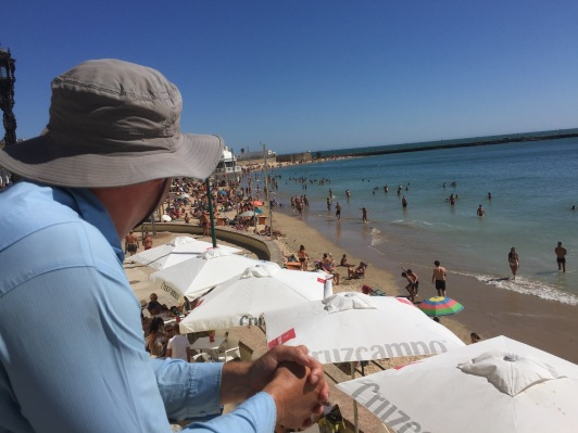 Busy urban beach in Cadiz. We don't go to these kinds, it's a bit too Bondi-flashback-ish.