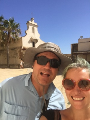 We found a fort in Cadiz! For those of you who have done 4th grade history in a California public school - how much does this look like a Spanish mission in California, am I right?