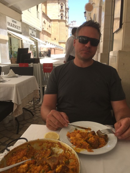 Luke really wishes I would stop taking pictures of him eating, see his face? But the paella was SO GOOD and it had crunchy rice at the bottom and I loved it and must remember it forever (still not as good as Mic and Shosh's paella though!)