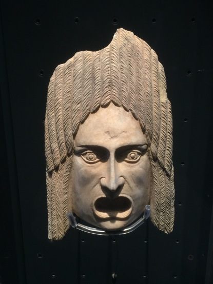 They dug up an original mask used in the stage productions at the ampitheatre a couple thousand years ago.
