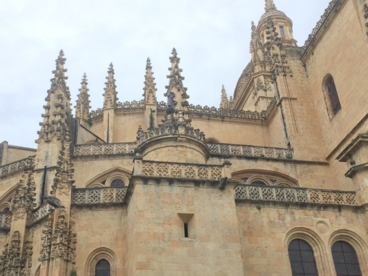 The cathedral in Segovia, Spain.