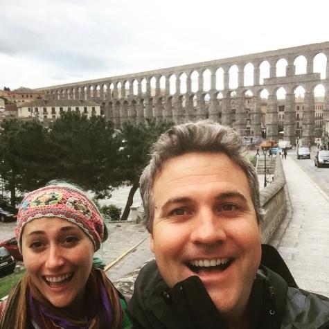 Roman aqueduct in Segovia!