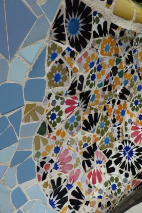 Gaudi was known to have his workers collect tiles from building rubble. Recognise this pattern? It was in the Alhambra.
