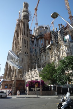 And so we arrive at La Sagrada Familia: The Passion facade, not yet complete, showing Christ's crucifixion.