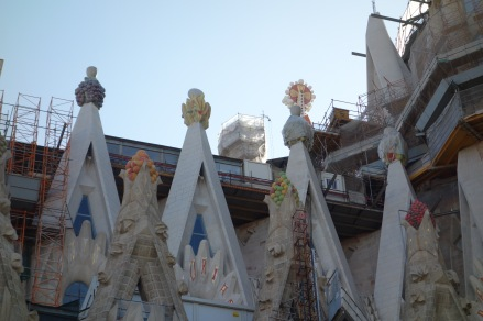 Around the corner from the Passion facade, we see grapes representing the Eucharist.