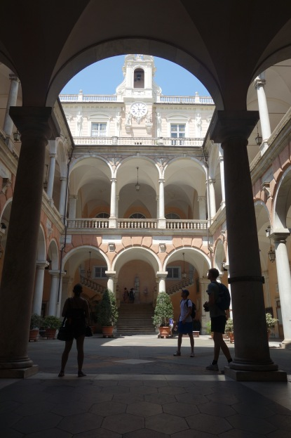 When you see this interior courtyard just remember that it was someone's house.