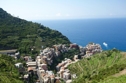The village of Manerola (we took the train there)