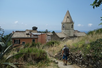 And our destination - one of the Cinque Terre villages, Consiglia