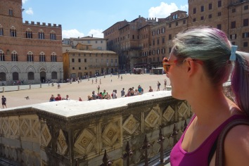 On to Siena. The famous Piazza del Campo.