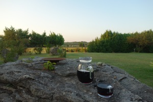 A farmstay in Tuscany. When we asked the owner for wine, he gave us a jug from the cask.