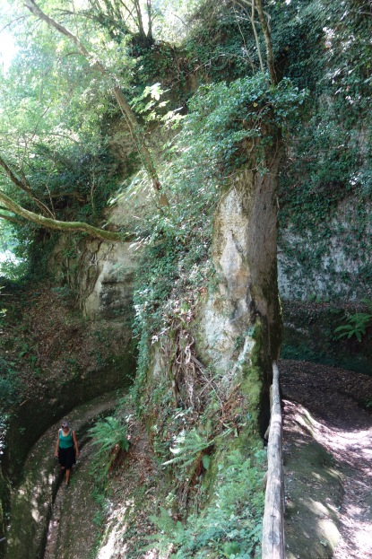 One of the Etruscan canyons