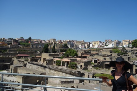 A view of Herculaneum. All following photos are in Herculaneum.
