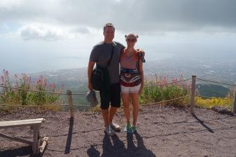 On the top of Vesuvius.