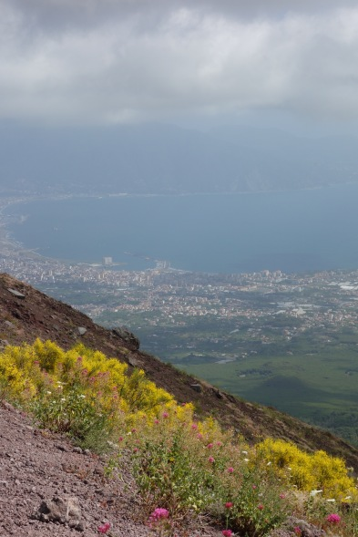 A view after an intense slog up Mt Vesuvius.