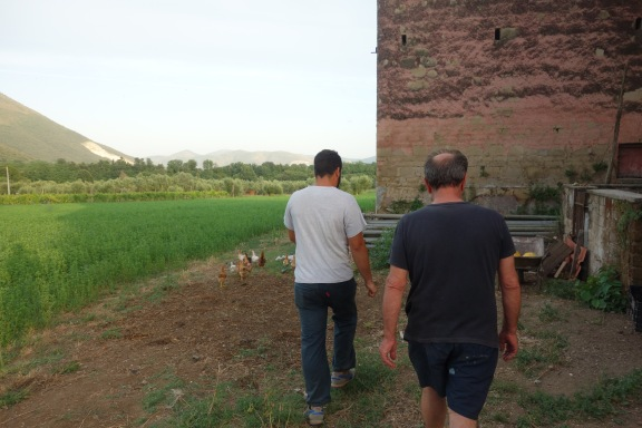 Salvatore and Uncle show us the farm.