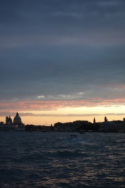 Sunset over Venice. We only spent a few hours in the city, just dinner and an evening stroll.