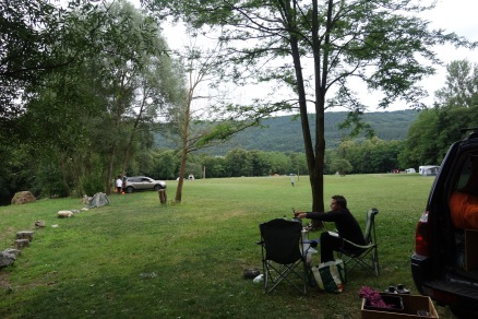 Our campsite in Slovenia.
