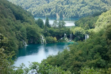 A last view of Plitvice. In all, we hiked about 12 km through the park.
