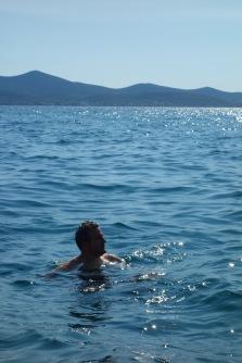 Luke enjoys the seaside next to the Sea Organ