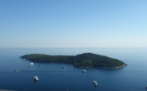 Approaching Dubrovnik
