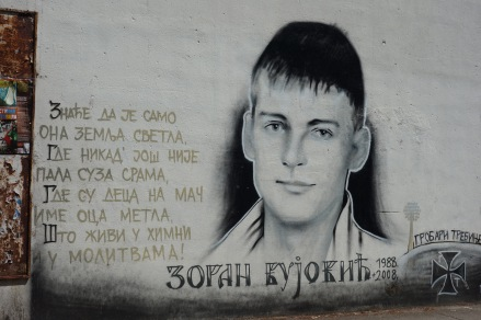I am not sure who this is, so anyone who speaks Bosnian, feel free to translate. Beautiful street art