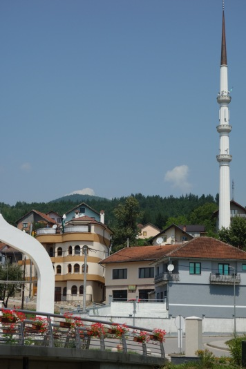 A mosque in the Rupublika Srpska, the Serbian area of Bosnia. A mayor in a local town has been advocating for the rebuilding of mosques in the area, most of which were apparently destroyed during the war.