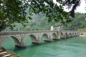 Visegrad, Bosnia - a view of the famous bridge from where we had lunch.