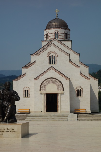 "This is a church in a brand new ""neighborhood"" in Visegrad, which has been built for a film set."